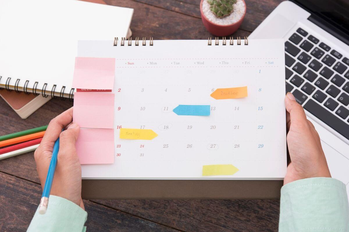 Request an appointment calendar